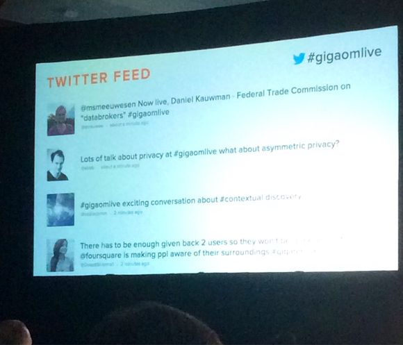 To tweet wall or not to tweet wall? @gigaomlive